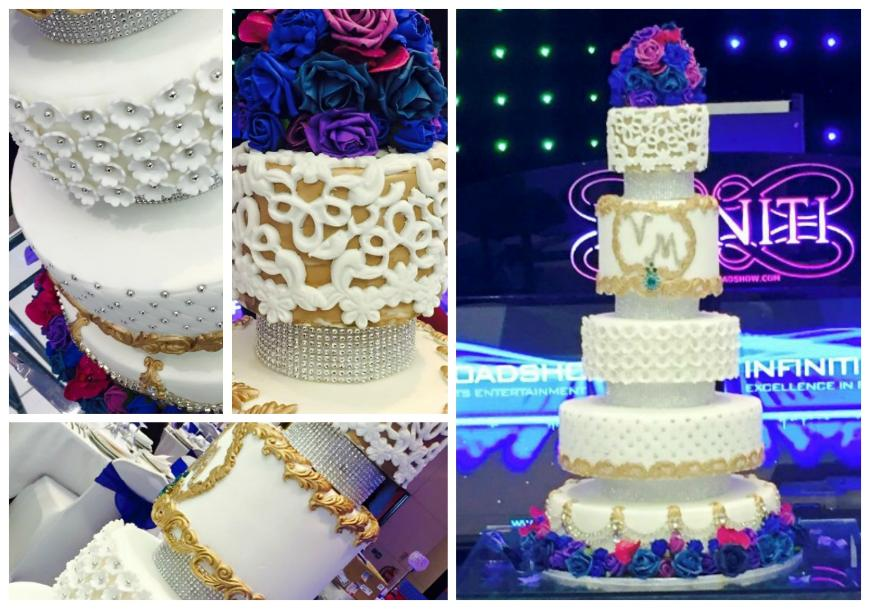 Ornate wedding cake, gold wedding cake,Swarn Cakes,eggless wedding cakes,Asian wedding cakes,asiain wedding cakes birmingham